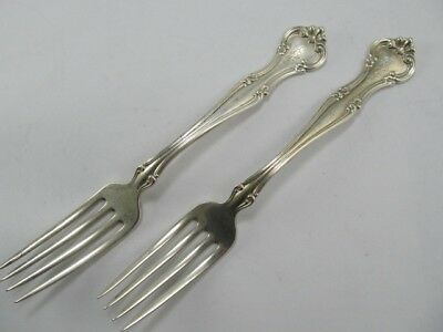 "Gorham Cromwell Sterling 2 Choice 7"" Forks Xlnt Condition Fine Mono"