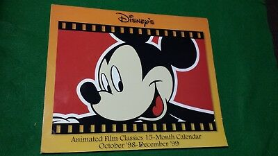 Disney Calendar Animated Film Classics, 15 Month, 1998-1999, 12 Month 1998,Plus