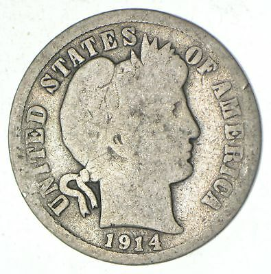 1914-D Barber Liberty 90% Silver United States Dime *161