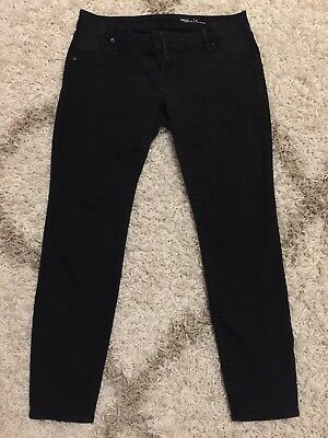 GAP Maternity sides elastic Panels True Skinny Black Jeans  Size 29