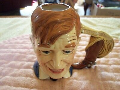 Vtg. Will Rogers Character/ Toby Mug 1976- Byron Molds