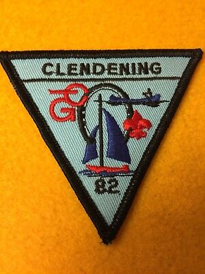 "BSA Clendening Scout Reservation OHIO 1982 Triangle patch 3 1/2"" NEW"