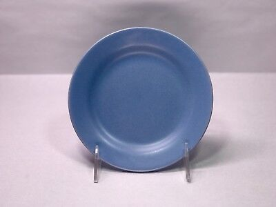 """Vintage Bauer Pottery Plainware Bread Plate 6"""" Inch French Blue Plain Ware"""