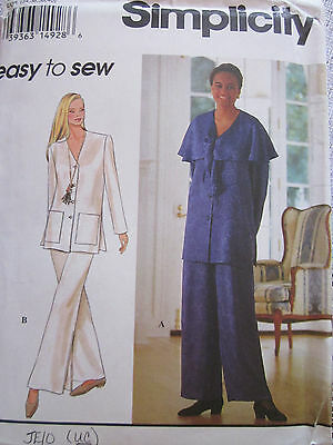 Simplicity 8810 Misses Easy Tunic Jacket Sewing Pattern Sz 6 8 10