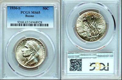 1936-S 50C Boone MS65 PCGS ~~Mintage 5,006.