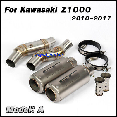 Motorcycle Exhaust Muffler Pipe Middle Link Pipe For Z1000 Ninja 1000 2010-2017