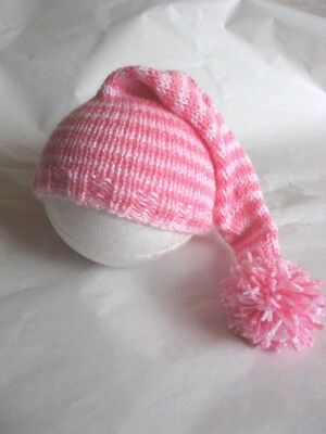 Hand knitted pixie beanie/hat to fit 0-3 months