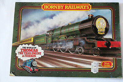 Vintage HORNBY RAILWAYS catalogue 31st edn 1984. Thomas the Tank Engine cover.