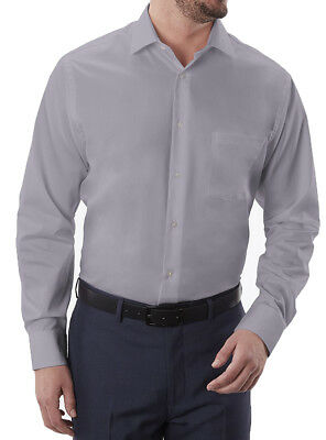 e1f1733abe0 New Geoffrey Beene Men s Classic Fit No Iron Gray Sateen Dress Shirt 15  32-33