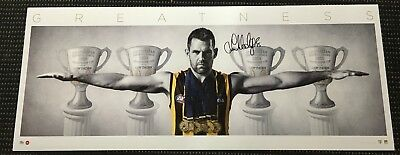 Luke Hodge Hawthorn Hawks Hand Signed Greatness Wings Official Afl Print Tuck