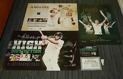 Australia Cricket Shane Watson Michael Hussey David Warner Signed Official Print