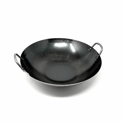 Yamada Hammered Iron Double-Handled Wok (1.6mm Thickness)