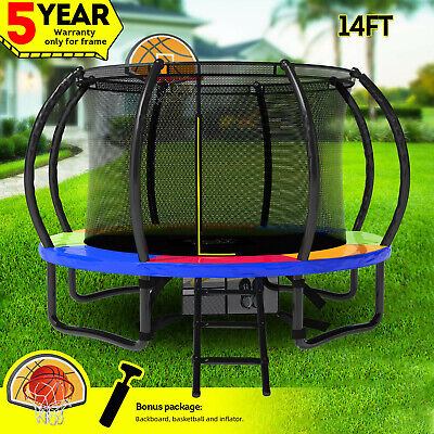 12FT Flat Trampoline Shade Cover Roof Guard Protection Canopy Outdoor Umbrella