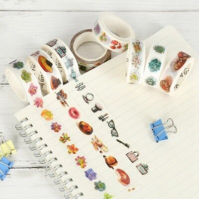 Masking Washi Tape Nature Succulent Plants Adhesives Decorative Tape Diary Decor
