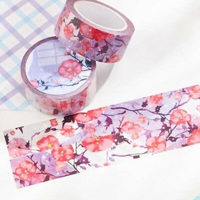 1 Roll Sakura Masking Scrapbook Decorative Tapes Sticky Paper Tape Washi Tape