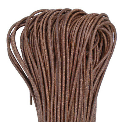 Retro Antique Brown 5mm Round Genuine Real Soft Leather Cord String Lace Thong