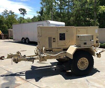 2 Military Generators, 2 MEP-802A's mounted on Military Trailer