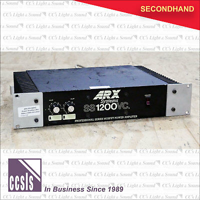 ARX SS1200VC Power Amplifier 2RU 600w + 600w @4-ohms