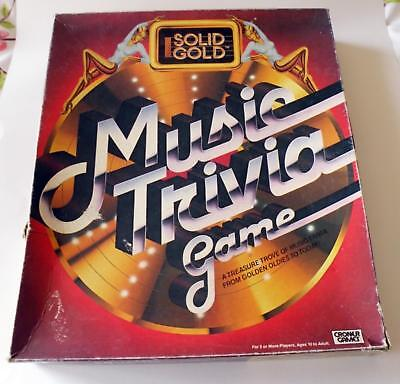 Solid Gold Music Trivia Vintage Board Game - 1984 - Croner - 100% Complete
