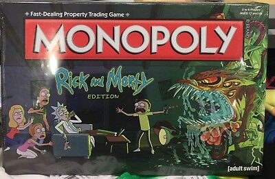 Rick And Morty Monopoly Board Game. Brand New Special Edition. Adult Swim !!!