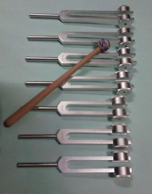 7 Chakra Healing Tuning Forks Weighted with Mallet best offer