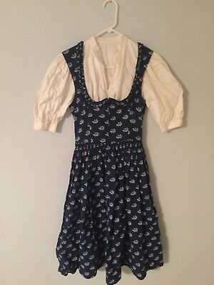 Dirndl Dress Vintage Blue Dress And Blouse Lodenbaur