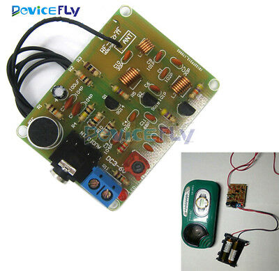 88-108MHz FM Wireless Microphone Suite FM Radio Transmitter DIY 1.5-9V Module