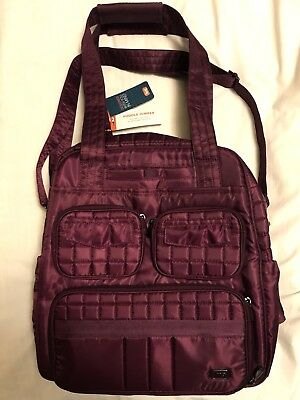 New With Tags Lug Puddle Jumper Backpack Overnight Gym Bag Berry/floral