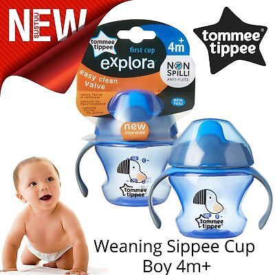 Tommee Tippee Weaning Sippee Cup Baby Boy│BPA Free│Non Spill│Soft Spout│For 4m+