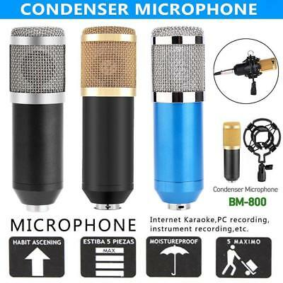 BM-800/900 Condenser Microphone Studio KTV Recording 3.5mm Mic with Shock Mount