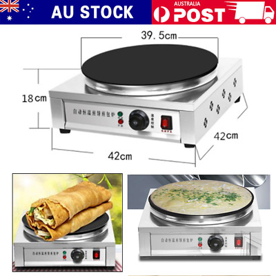 Electric Pancake Crepe Maker Non Stick Breakfast Cooker Plate Making Machine AU