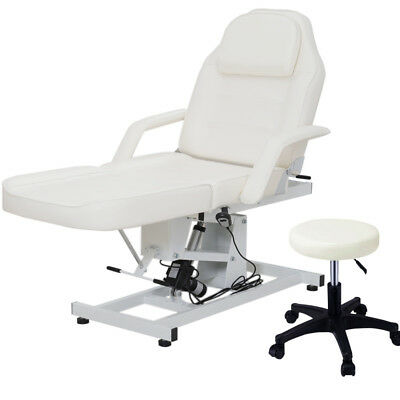 Leather Beauty Salon Equipment SPA Facial Massage Table Bed Recliner Couch+Chair