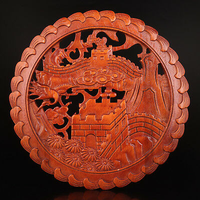 Wood Decorative Board Hand-Carved The Great Wall China Collection