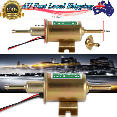 New Universal 12V Electric Fuel Pump Inline Diesel Petrol Low Pressure 115Lph Au