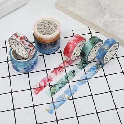 Spring Washi Tape Diary Autumn Romantic Blue Adhesive Tape Craft Masking Tape