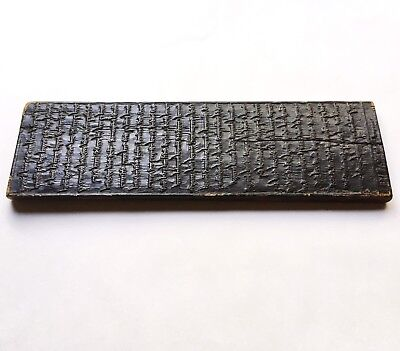 Rare Antique Mongolian Carved Woodblock Printing Plate, Buddhist Prayer Very Old