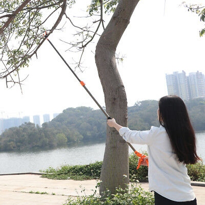 Finether Telescopic Long Reach Cut Hold Pole Pruner Tree Branch Trimmer Cutter