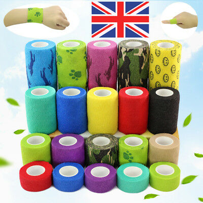 First Aid Health Treatment Self Adhesive Elastic Bandage Gauze Tape Tattoo UK
