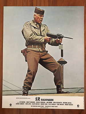 The Dirty Dozen Set 12 Original French Lobby Cards 1967 Lee Marvin Mgm Envelope