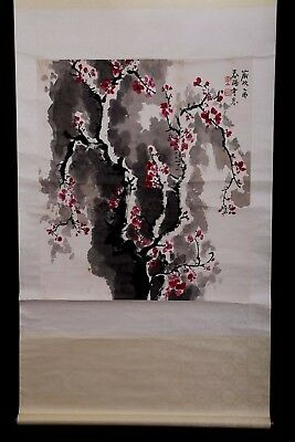 Large Old Chinese Hand Painting Beautiful Flowers Marked HuoChunYang PP962