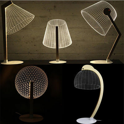 Led Optique Illusion Lampes De Lecture Lampe Lumineux 3d Bulbing WIHYED29