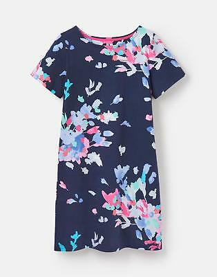 Joules 124570 Womens Riviera Printed Dress in French Navy New Fairground Floral