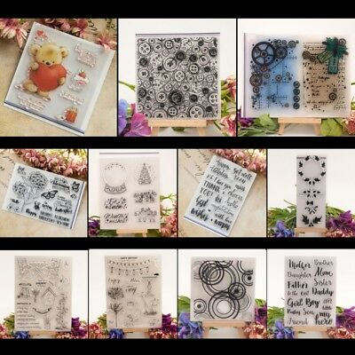 Transparent DIY Silicone Clear Stamp Cling Seal Scrapbook Embossing Album Decor