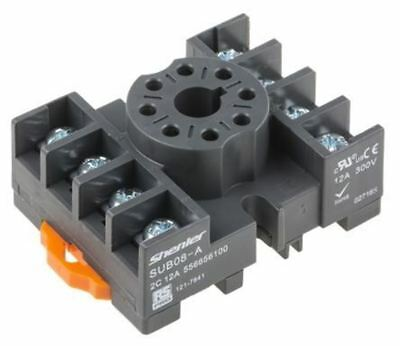 RS Pro 8 pin Relay Socket, DIN Rail, 300V for use with RS Pro RUB Relays