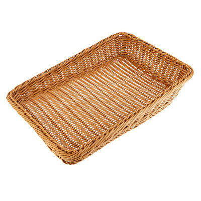 Plastic Basket Imitation Rattan Trapezoid Basket Handcrafts Display Basket