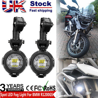 2PCS Spot LED Auxiliary Fog Safety Driving Light Motorcycle for BMW R1200GS UK