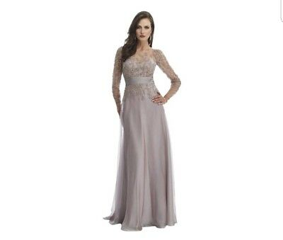 Morrell Maxie 14862 Formal Mother of the Bride Dress Light Coffee Color size 14