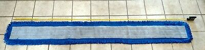 """Microfiber Fringe Dry/Dust Mop Replacement Head Pad Canvas Back Washable 72""""x5"""""""