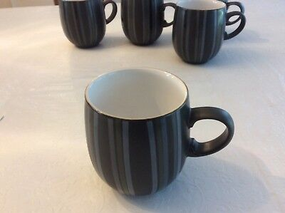 DENBY JET STRIPES MUG. Black with stripes NEW WITHOUT TAGS
