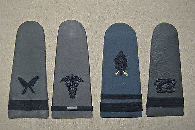 Vintage Rare Gray WW2 US Navy Shoulder Boards Lot of 4